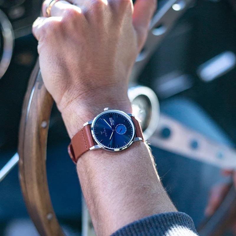 Triwa FAST121-CL010212 zegarek srebrny klasyczny Falken pasek
