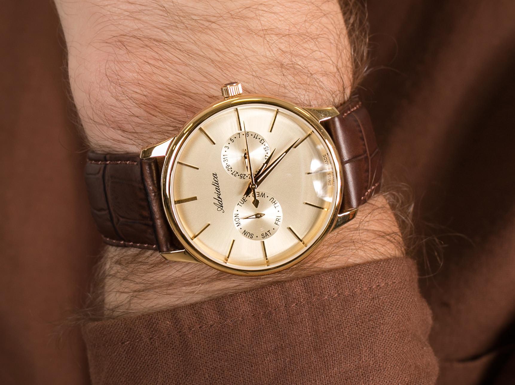 Adriatica A8243.1211QF Classic zegarek klasyczny Pasek