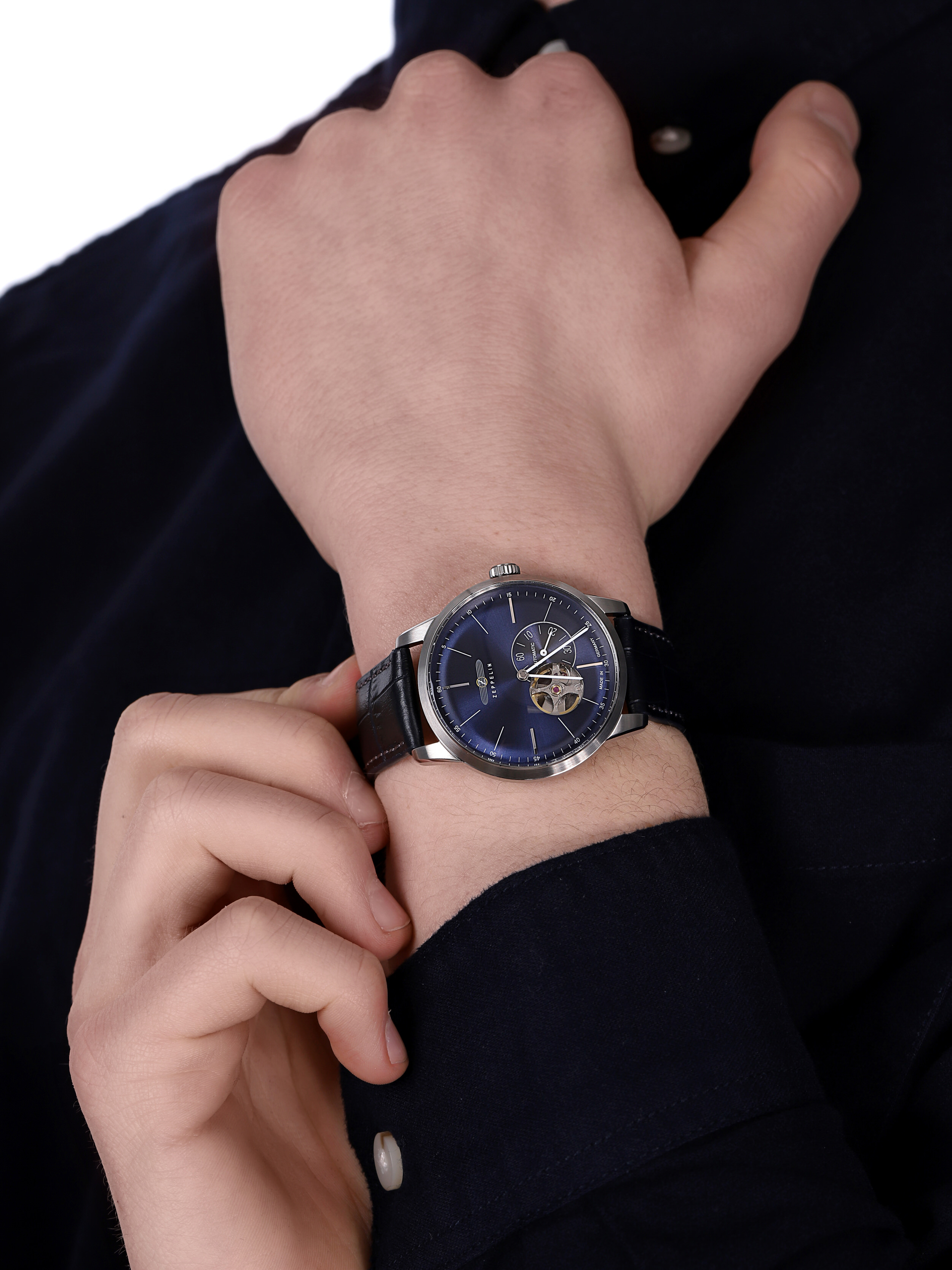 Zeppelin 7364-3 męski zegarek Flatline pasek