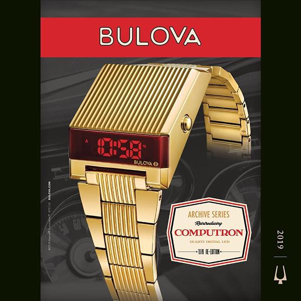 Bulova 97C110 Computron zegarek męski klasyczny mineralne