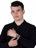 Adriatica A8267.5224CH zegarek srebrny klasyczny Pasek pasek