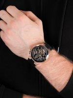 automatyczny Zegarek męski Bulova Automatic Automatic Skeleton 98A177 - duże 5