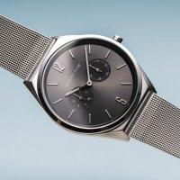 Bering 17140-009 zegarek srebrny klasyczny Ultra Slim bransoleta