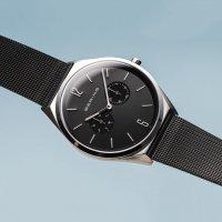 Bering 17140-102 zegarek srebrny klasyczny Ultra Slim bransoleta