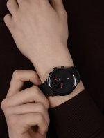 Bisset BSFE11BIBR03AX zegarek czarny fashion/modowy Nowoczesne bransoleta