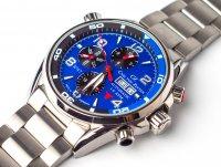 Carl von Zeyten CVZ0047BLMB zegarek srebrny klasyczny NO. 47 bransoleta