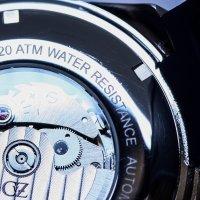 Carl von Zeyten CVZ0067BL-POWYSTAWOWY zegarek srebrny sportowy Belchen pasek