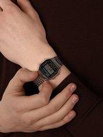 Casio Vintage A168WA-1YES męski zegarek VINTAGE Maxi bransoleta