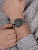 Casio Vintage A168WEC-3EF zegarek srebrny retro VINTAGE Maxi bransoleta