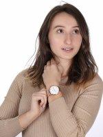 Cluse CW0101201001 Rose Gold/White Boho Chic fashion/modowy zegarek różowe złoto