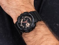 czarny Zegarek Casio G-SHOCK Style GA-110RG-1AER - duże 6
