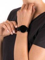 zegarek Garett 5903246286359 Smartwatch Garett Lady Bella czarny stalowy damski z krokomierz Damskie