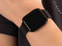 Garett 5903246287141 Smartwatch Garett Women Eva RT czarny stalowy zegarek sportowy Damskie