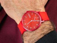 Skagen SKW6512 Aaren Kulor Red Silicone zegarek klasyczny Aaren