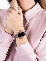 zegarek Garett 5903246287189 Smartwatch Garett Women Nicole RT różowy stalowy damski z krokomierz Damskie