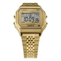 Timex TW2R79200 zegarek złoty retro T80 bransoleta