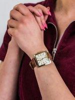 Anne Klein AK-2740CHBN damski zegarek Pasek pasek