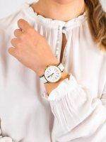 Anne Klein AK-3252WTBK damski zegarek Pasek pasek