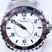Delbana 41702.513.1.514-POWYSTAWOWY zegarek srebrny klasyczny Safira bransoleta