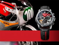 Edifice EQS-930HR-1AER zegarek srebrny sportowy EDIFICE Premium pasek