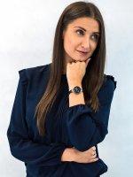 fashion/modowy Zegarek różowe złoto Obaku Denmark Pasek V201LDVLML - duże 4