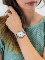 fashion/modowy Zegarek srebrny Timex Metropolitan TW2R36200 - duże 5