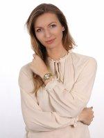 fashion/modowy Zegarek złoty  Bransoleta 44P101 - duże 4