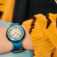 Flik Flak FBNP175 zegarek zielony klasyczny Story Time pasek