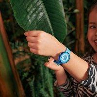 Flik Flak FPNP082 zegarek fioletowy klasyczny Power Time pasek