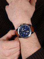 Fossil FS5151 zegarek srebrny sportowy Grant pasek