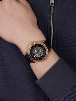 Fossil ME3102 zegarek różowe złoto fashion/modowy Grant pasek