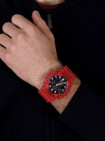 G-SHOCK GA-100B-4AER G-SHOCK Original sportowy zegarek czerwony