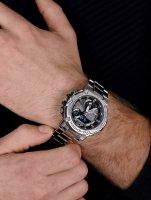 G-SHOCK GST-B300E-5AER zegarek męski G-SHOCK G-STEEL srebrny