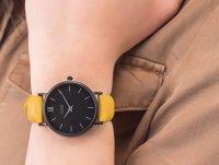 klasyczny Zegarek czarny Cluse Minuit CL30033 Full Black/Mustard - duże 6