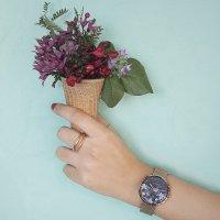 klasyczny Zegarek różowe złoto  Flower S700LXVBMV-DF - duże 11
