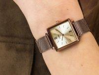 Casio Vintage LTP-E155MR-9BEF zegarek różowe złoto klasyczny Vintage bransoleta