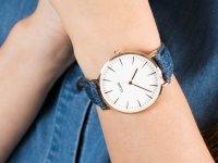 klasyczny Zegarek różowe złoto Cluse La Boheme CL18025 Rose Gold White/ Blue Denim - duże 6