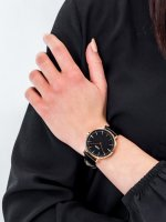 klasyczny Zegarek różowe złoto Cluse La Boheme CW0101201011 Rose Gold Black/Black - duże 5