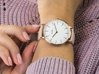 klasyczny Zegarek różowe złoto Cluse La Boheme CW0101201012 Rose Gold White/Pink - duże 6