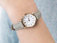 klasyczny Zegarek różowe złoto Cluse La Vedette CL50009 Rose Gold White/Grey - duże 6