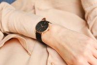 Meller W3R-2BLACK Denka Roos Black Denka klasyczny zegarek różowe złoto