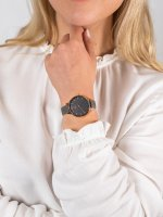 klasyczny Zegarek różowe złoto Obaku Denmark Bransoleta V209LXVJRJ - duże 5