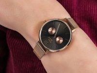 klasyczny Zegarek różowe złoto Pierre Ricaud Bransoleta P22110.91R7QF - duże 6