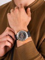 klasyczny Zegarek różowe złoto Vostok Europe Lunokhod NH35A-6209209 Lunokhod-2 Automatic - duże 5