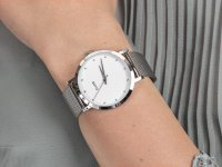 klasyczny Zegarek srebrny  Pavane CL18301 Silver Stones - duże 6