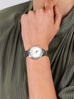 klasyczny Zegarek srebrny Bulova Crystal 96L282 - duże 5