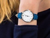 klasyczny Zegarek srebrny Cluse Minuit CL30030 Silver White/Denim Blue - duże 6