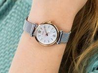 klasyczny Zegarek srebrny Fossil Carlie ES4614 CARLIE MINI - duże 6