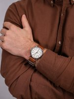 klasyczny Zegarek srebrny Timex Weekender TWG012500 - duże 5