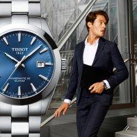 Tissot T127.407.11.041.00 GENTLEMAN POWERMATIC 80 SILICIUM Gentleman klasyczny zegarek srebrny